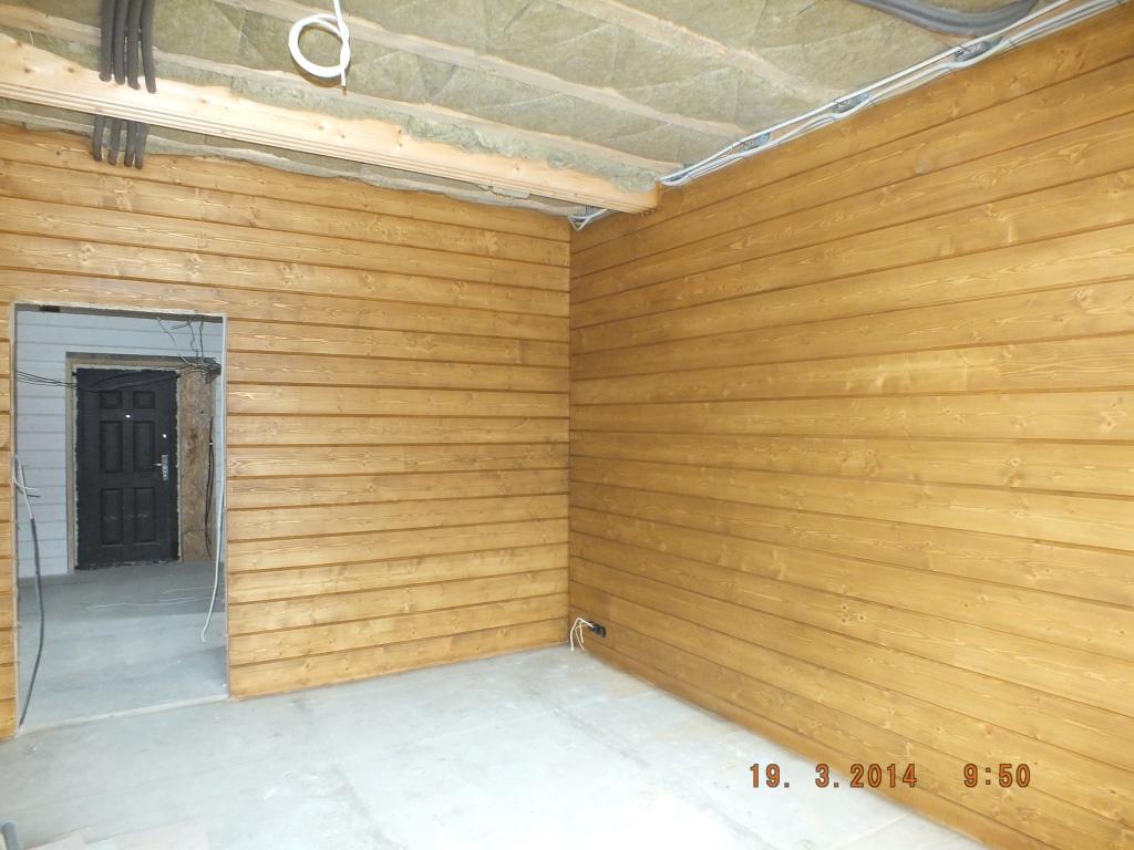 Фото внутренней отделки гаража из бруса